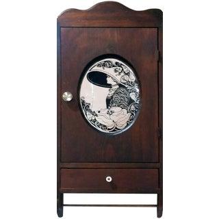 "Antique ""Fair Lady"" Mirrored Medicine Cabinet"