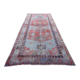 """Vintage Tribal Hand Knotted Rug - 4'10"""" X 12'"""