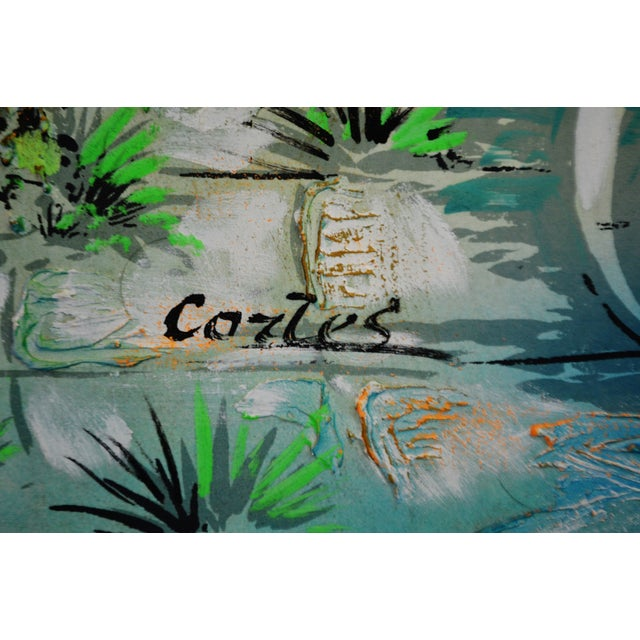 Vintage Signed Illuminated Giclee Painting on Panel - Image 4 of 9