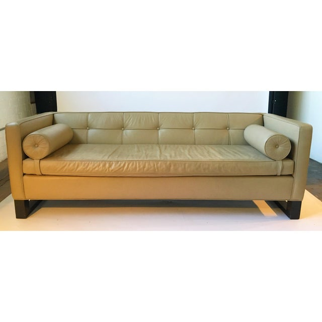 Tufted Natural Leather Sofa Chairish