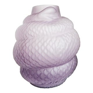 Glass Coiled Snake Vase