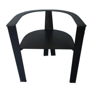 1990s Steel Brutalist Studio Chair