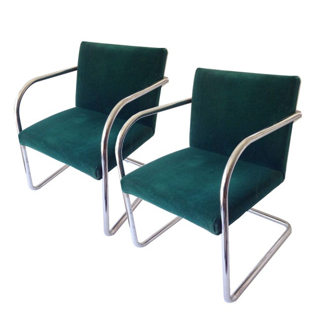 Margot Chrome Cantilevered Armchair - Image 2 of 2