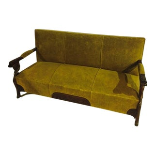1930s Vintage Cuban Upholstered Canapé Sofa