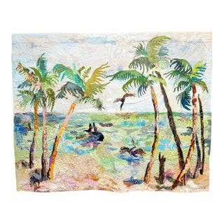 """Palm Trees by the Sea' Tapestry Art"