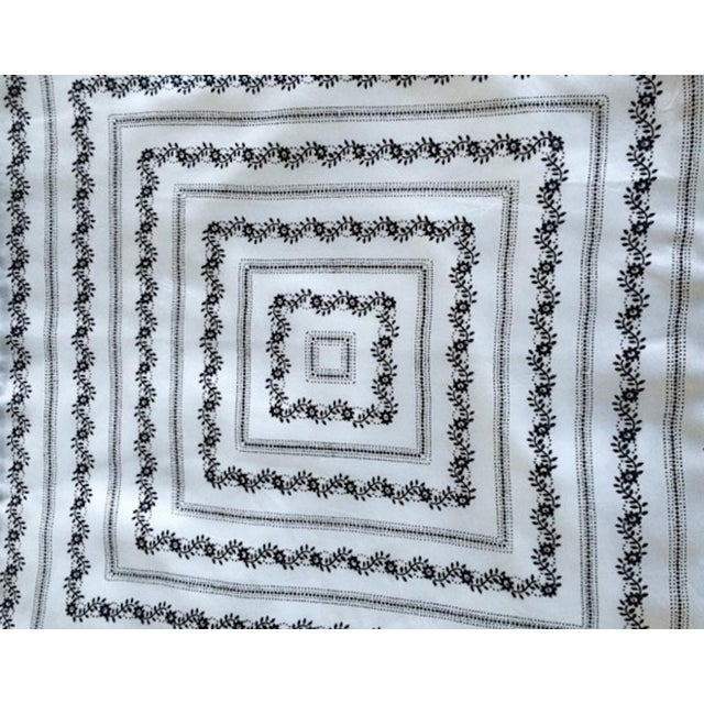 Vintage Silk White Bandana Pillow - Image 2 of 3