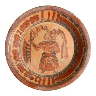Large Mayan Plate