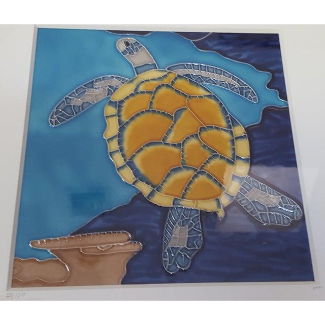 Image of Hawaiian Sea Turtle Art Tile