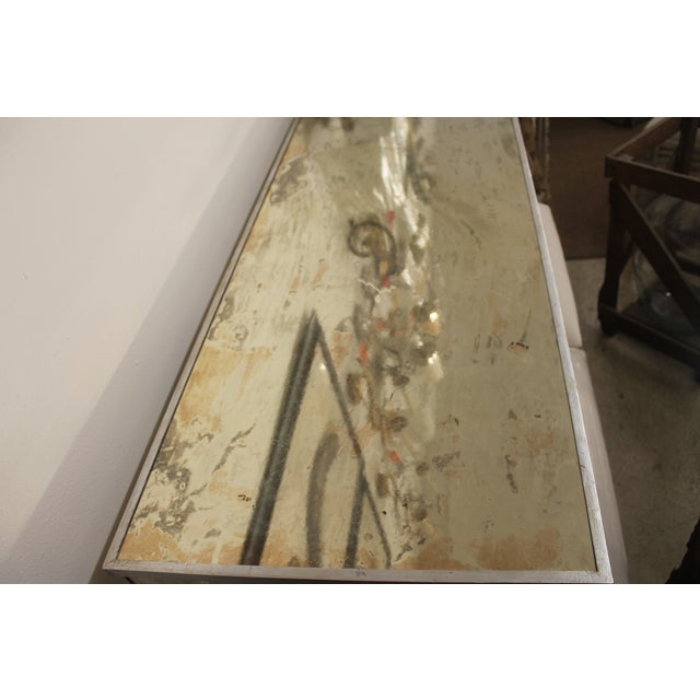 Antiqued & Mirrored Console Table - Image 9 of 9