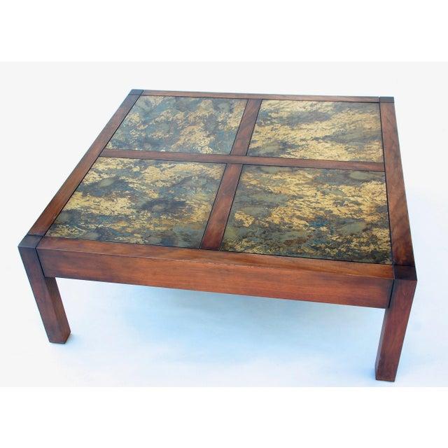 Mid Century Modern Walnut Square Coffee Table