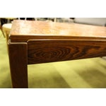Image of Brutalist Walnut Coffee Table with Copper Top