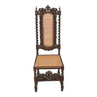 C. 1810 French Renaissance Revival Carved Oak Chair