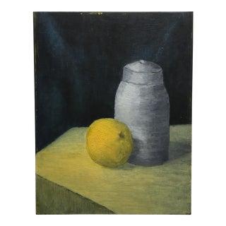Vintage Pomelo & Jar Still Life Painting