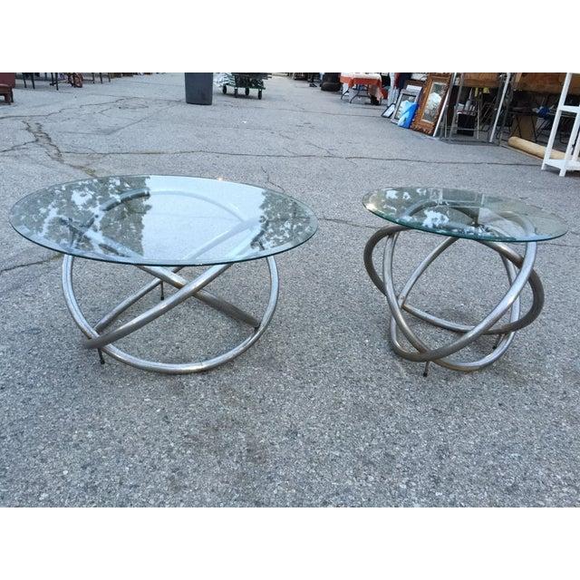 Image of Milo Baughman Style Coffee Table - Pair
