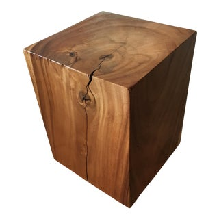 Reclaimed Solid Wood Cube Table