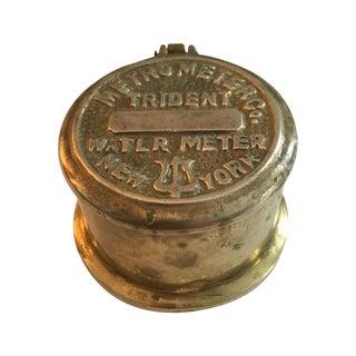 Vintage Brass Metro Meter Trinket Box
