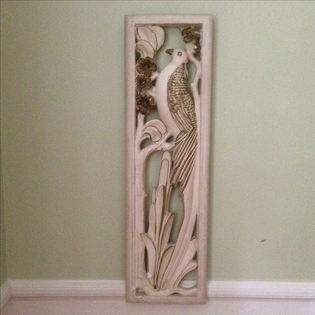 Mid Century Bird & Flower Wall Hanging - Image 2 of 11