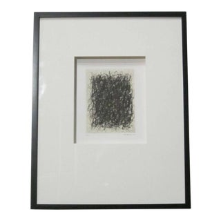 Abstract Black And Cream Etching By French Artist Renaud Allirand