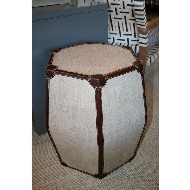 Hexagonal Leather Stool - Image 2 of 3