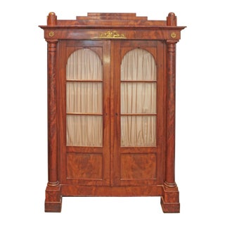 19th Century Biedermeier Bibliotheque of Figured Mahogany