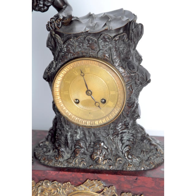"""French Empire """"Farnese Hercules"""" Mantel Clock attributed to Claude Galle - Image 4 of 11"""