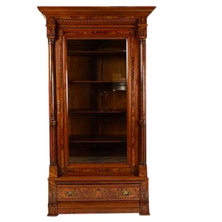 Traditional 19th Century Continental Single Door Bookcase
