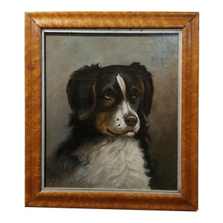 19th Century Oil Portrait of a Dog