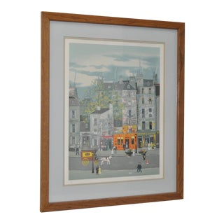 "Michel Delacroix ""Parisian Street Scene"" Original Serigraph Signed / Numbered"