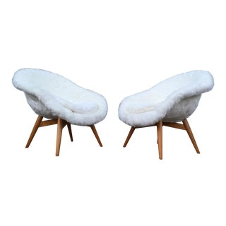 Miroslav Navratil Faux Fur Chairs - A Pair