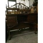Image of Beautiful Wrought Iron & Dark Wood Buffet