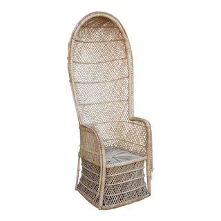 Vintage Rattan Porter Chair