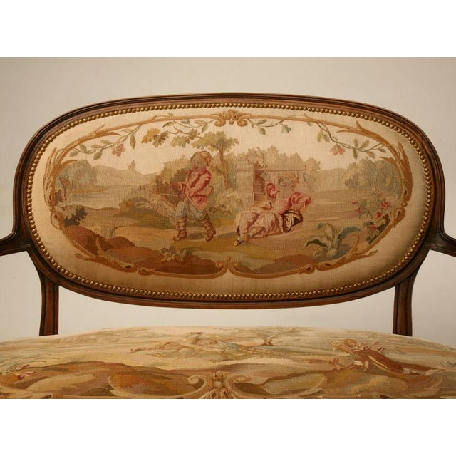 Louis XVI Aubusson Upholstered Settee - Image 6 of 11