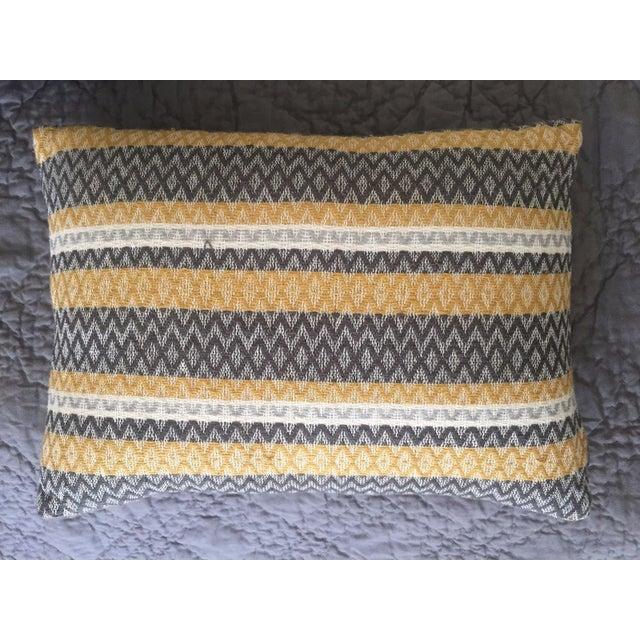 West Elm Silk Jacquard Hand-Woven Pillows - A Pair - Image 10 of 11