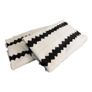 Malian White Mud Cloth Textiles - A Pair