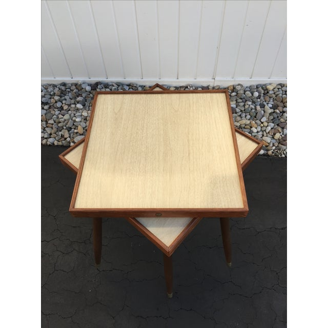 Mid-Century Stacking Side Tables - Pair - Image 3 of 6