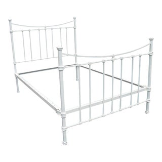 White Wrought Iron Full Bed Frame