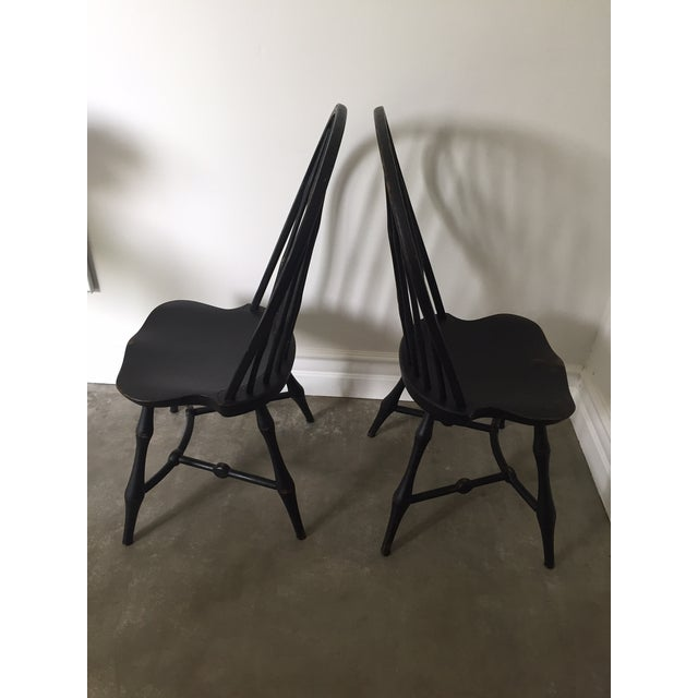 19th Century American Black New England Windsor Chairs - A Pair - Image 4 of 8