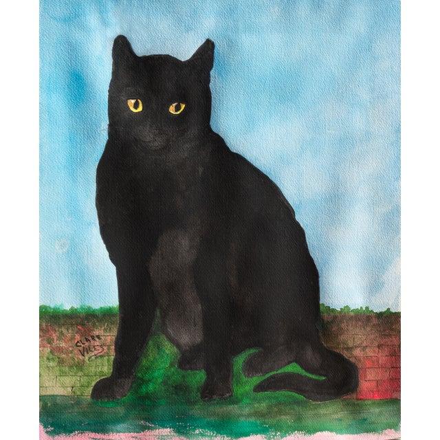 Portrait of a Black Cat, 1975 - Image 1 of 3