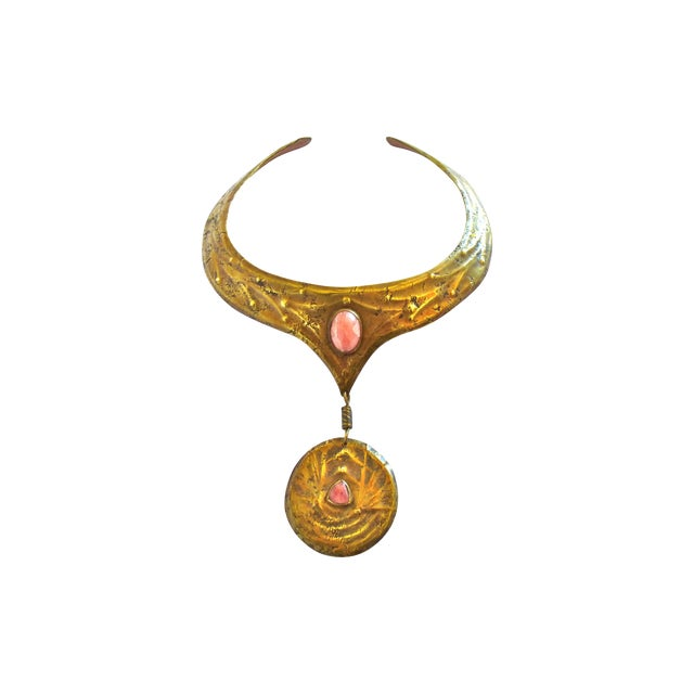 Image of Egyptian Revival Modernist Necklace