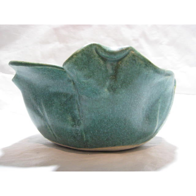 Handmade Vintage Flower Form Art/Pottery Bowl - Image 3 of 9