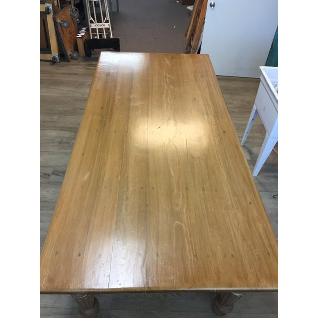 Rustic Farmhouse Dining Table - Image 9 of 10