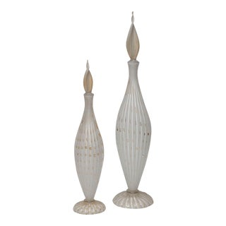 Large Murano Glass Decanters by Alfred Barbini