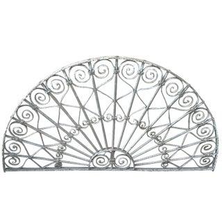 Victorian White Iron Gate Panel