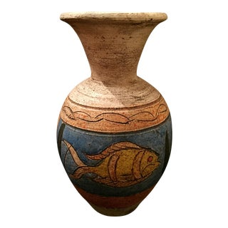 Mexican Folk Art Pottery Ceramic Vase