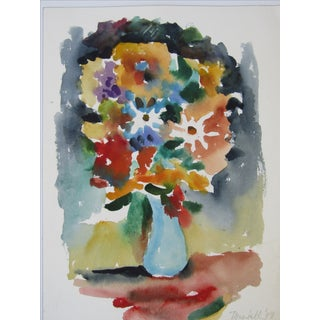 Lively Colorful Flowers in Vase, Summer Bouquet