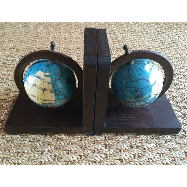 Nautical Spinning Globe Ships Bookends - Pair - Image 6 of 6