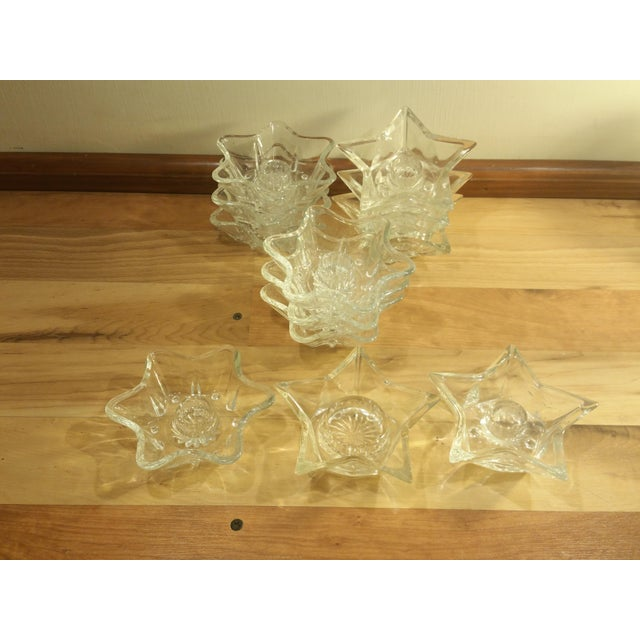 Image of Star Glass Votive Candle Holders - Set of 12