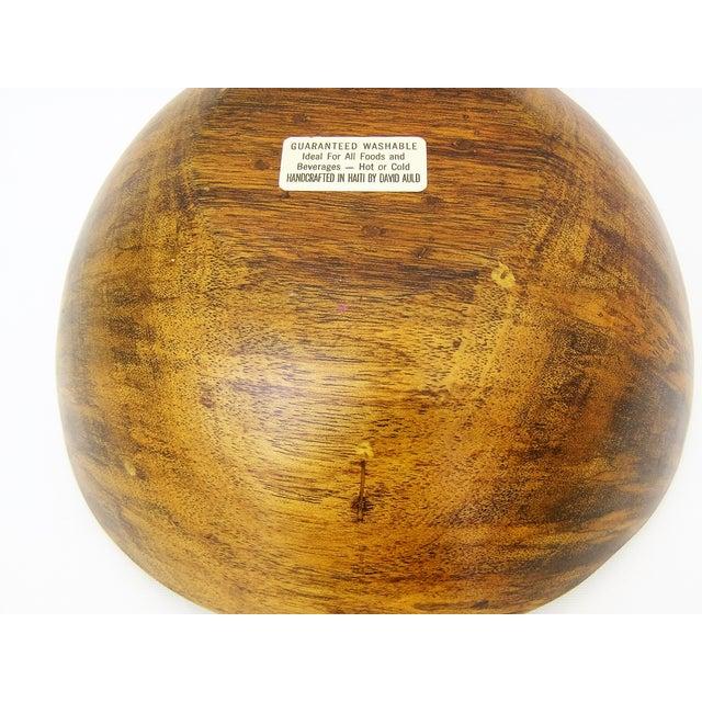 David Auld Large Mid-Century Wood-Carved Bowl - Image 11 of 11