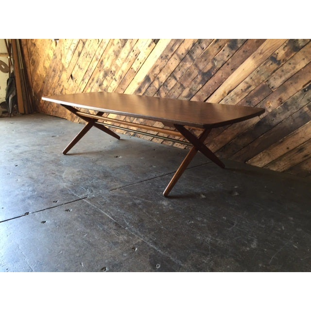 Mid-Century Danish Coffee Table by Ole Wanscher - Image 9 of 10