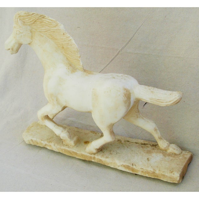 1940's Carved Marble Horse Statue - Image 4 of 11